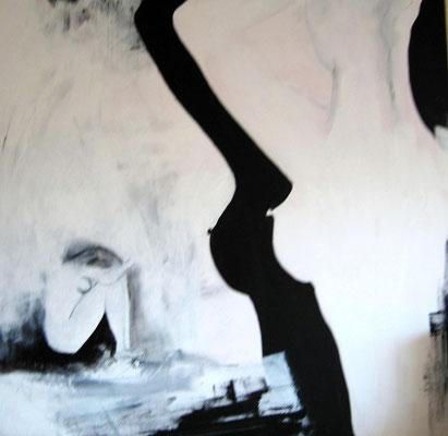 """Nr. 373 / """"Entspannung"""" /  80 cm x 80 cm / Acryl auf Leinwand"""