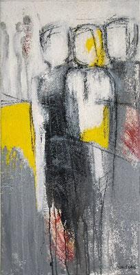 """Nr. 145 / """"Hier und Jetzt"""" /  50 cm x 100 cm / Acryl auf Leinwand"""