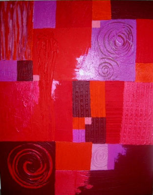 "Nr. 397 / ""Im rosaroten Licht 2"" /  50 cm x 100 cm / Acryl auf Leinwand"