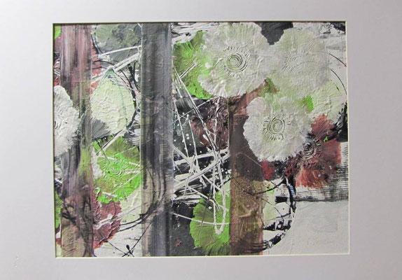 """Nr. 659 / Titel: """"Heiter und froh"""" / 50 cm x 50 cm / Acryl-Mischtechnik auf Leinwand"""