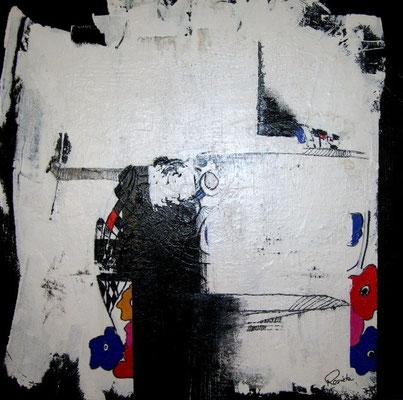 Nr. 544 /  o.T. / 80 cm x 80 cm / Acryl auf Leinwand