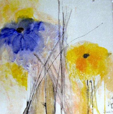 """Nr. 472  / """"Frühlingserwachen 3"""" / 40 cm x 40 cm / Acryl auf Leinwand"""