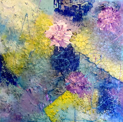 Nr. 714 / o.T. / 50 cm x 50cm / Acryl-Mischtechnik auf Leinwand