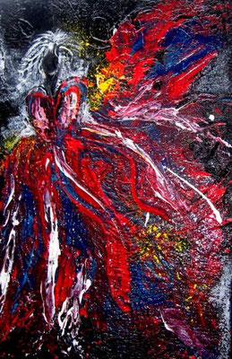 """Nr. 531 / """"Farbenrausch"""" /  40 cm x 60 cm / Acryl auf Leinwand"""