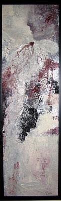 Nr. 547 / o.T. /  37 cm x 115 cm / Acryl auf Pappe mit Holzrahmen