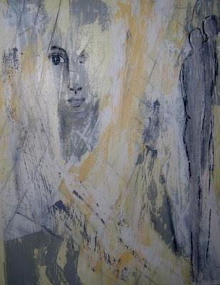 """Nr. 512 / """"Ich will..."""" / 50 cm x 60 cm / Acryl auf Leinwand"""