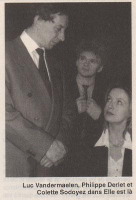 Luc Vandermaelen, Philippe Derlet et Colette Sodoyez