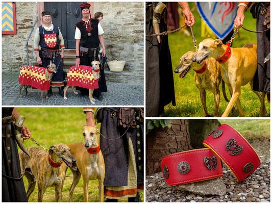 Die edlen Herren Tarik und Emrys in den Wappenfarben der Burg Hausdorp.