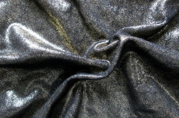 Italienisches Fashionleder, Gold/Schwarz