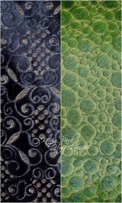 Fell, gefärbt und gelasert. Grün: nur noch geringer Bestand