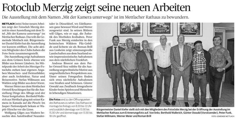 Saarbrücker Zeitung vom 15.10.2018