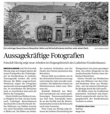 Saarbrücker Zeitung vom 17.01.2019