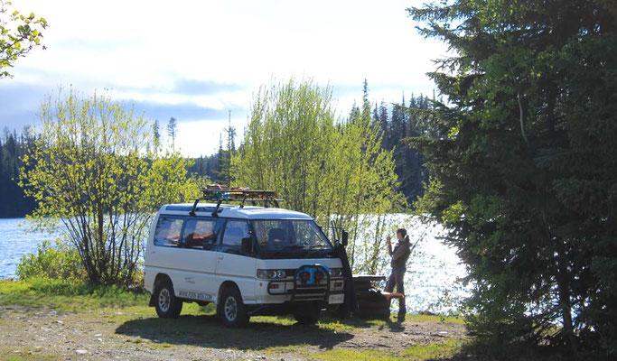 Camp at Goose Lake