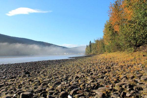 Morgennebel über Yukon und Dawson / morning mist over Yukon and Dawson