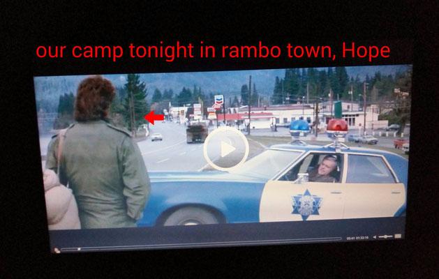 unser Camp in Hope ist da hinten....