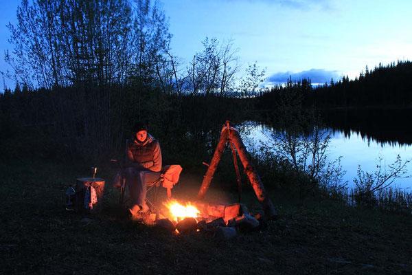 Abend am Goose Lake / evening at Goose Lake