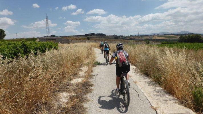 toller Radweg zw. Porto Palo und Menfi