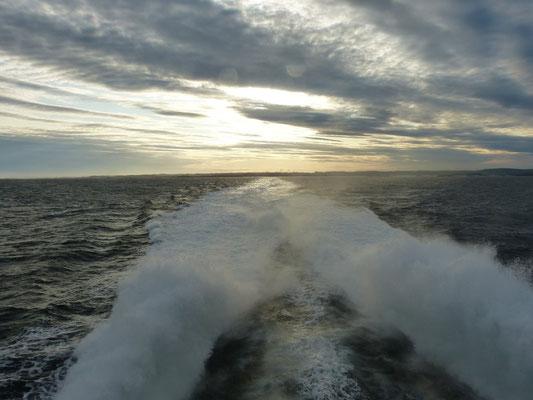 mit der fjordline auf einem Schnellboot nach Dänemark