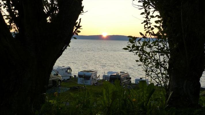 Sonnenuntergang am Storsand-Camping