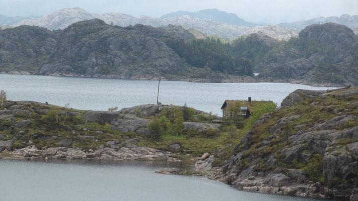 Landschaft an der 44 Richtung Stavanger