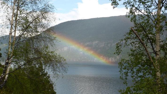 tolles Farbenspiel am Jossenfjord
