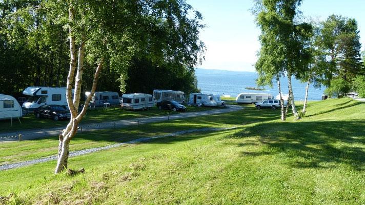 am Camping Storsand nördlich von Trondheim