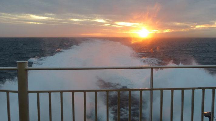 letzter Sonnenuntergang im Norwegenurlaub 2015