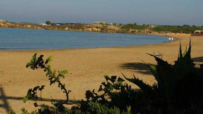 unser Strand am Scaraeo-Camp