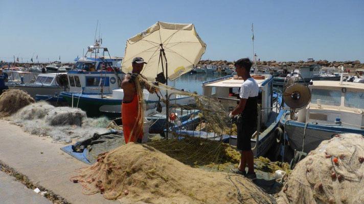 bei den Fischern in Marinella di Selinunte