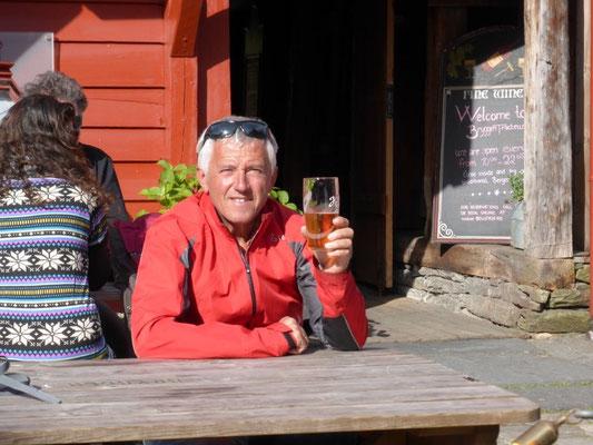 ganz schön teuer - ein Bier in Bryggen