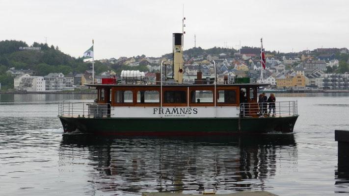 mit dem Schiff unterwegs in Kristiansund