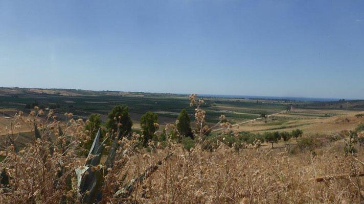 fruchtbare Landschaft im Hinterland von Selinunte