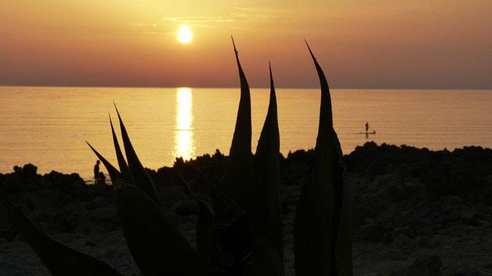 Abendstimmung am Strand von El Bahira