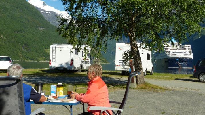 am Camping Geiranger