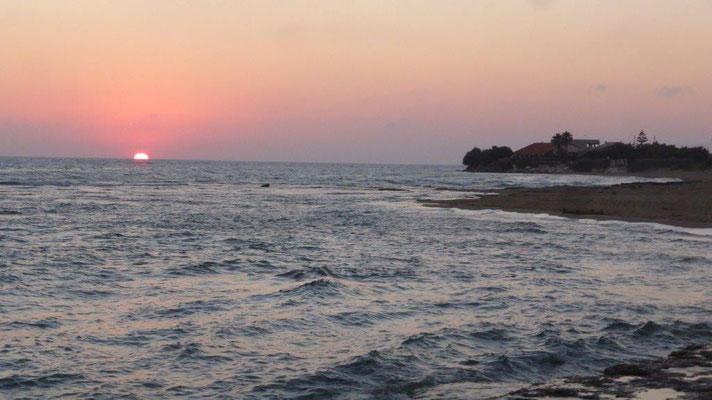 Sonnenuntergang am Punta Secca