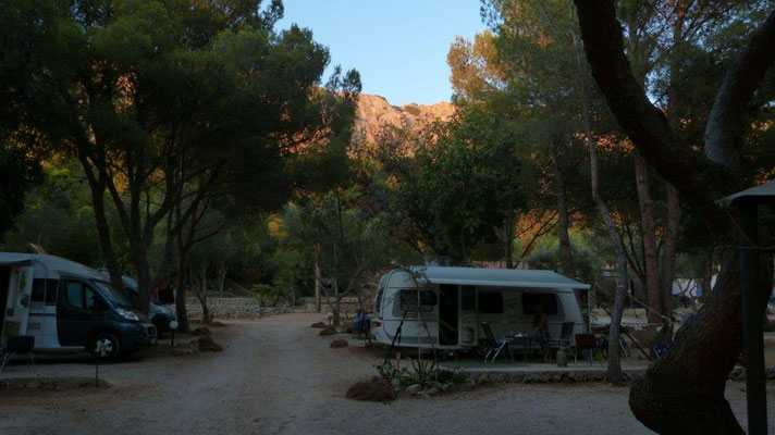 Abendstimmung am Camp El Bahira