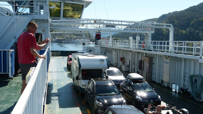 immer wieder - mit der Fähre über den Fjord