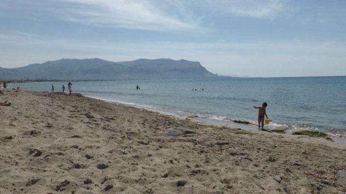 am Strand vor dem CP La Playa