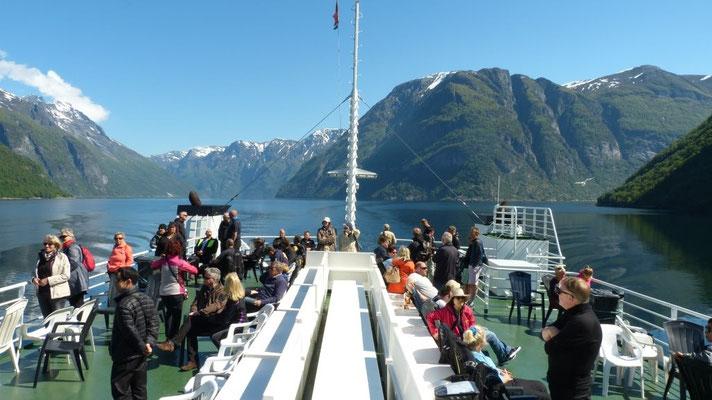 unterwegs auf dem Geirangerfjord