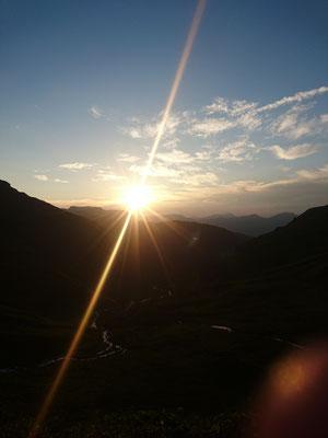 Sonnenuntergang im Oberberg