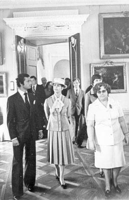 Во время посещения Павловского дворца-музея: Жаклин Кеннеди Онассис