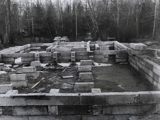 Строительство фундамента Павильона роз в Павловске. Конец 1980-х годов