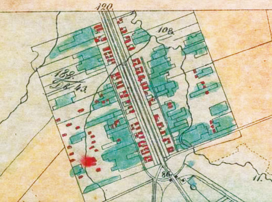 План деревни Александровки 1840-х гг.