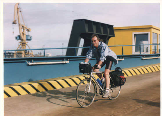 Первая поездка на велосипеде за рубеж в 2003 г.