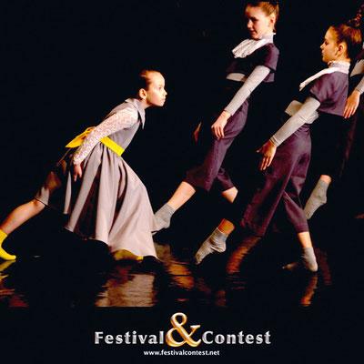 Миниатюра «Головоломка», которую участники театра исполняли на Festival&Contest в Великом Новгороде