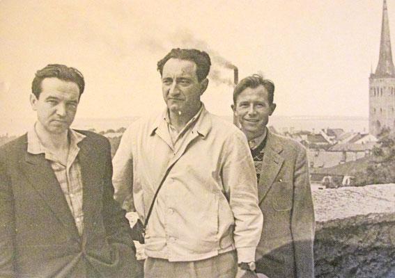 Во время командировки с коллегами в Таллине. 1970-е годы