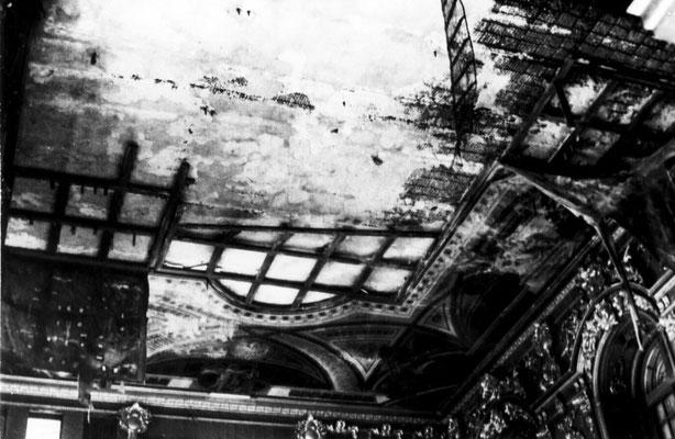 В таком состоянии был плафон церкви в 1946 г.