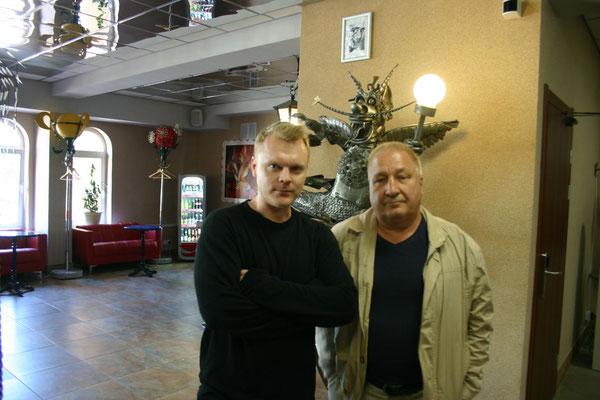 Михаил Алексеевич Колесник с сыном Алексеем