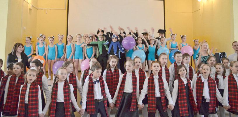 Гала-концерт отделения дополнительного образования гимназии № 406 на районном смотре-конкурсе ОДОД , апрель 2016 г.