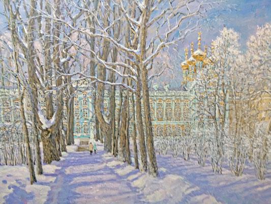 Морозный день в Екатерининском парке